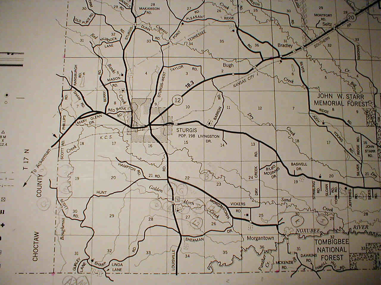 Map of Sturgis Maps Land and